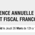 Fiscalité en Espagne: conference annuelle de droit fiscal
